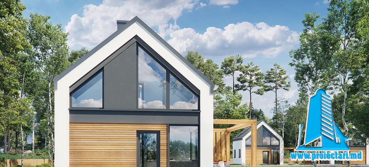 Proiect Casa de vacanta Bungallo 69.4m2 – 101136