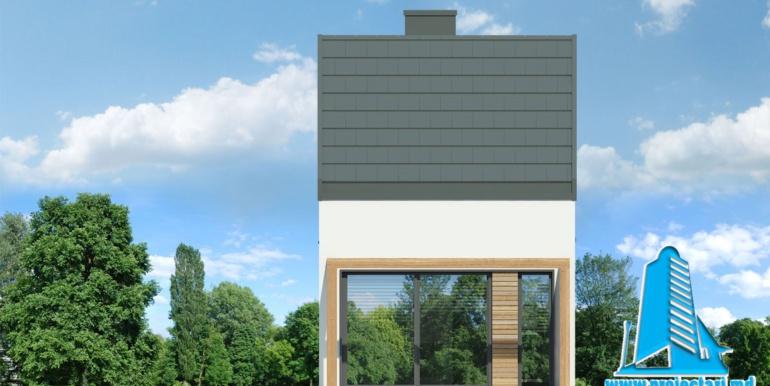fatada 2 proiect de casa de vacanta