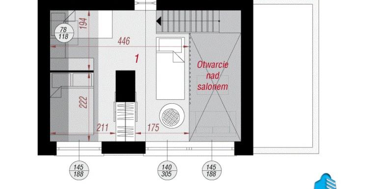 plan mansarda proiect de casa de vacanta