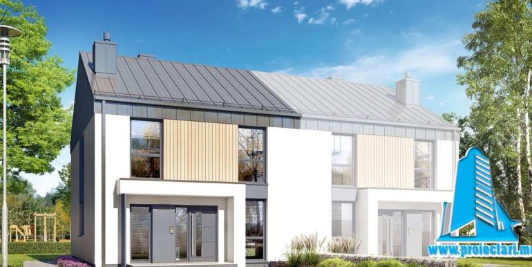 proiect de casa duplex