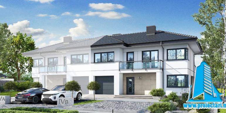 proiect de casa duplex cu etaj