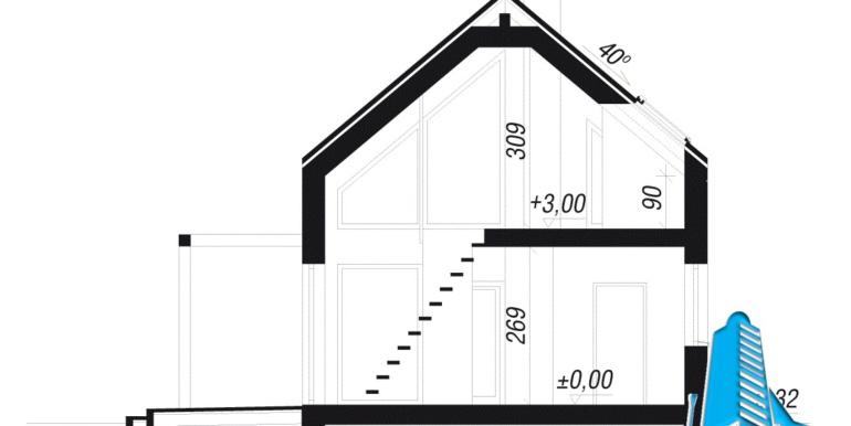 sectiune proiect de casa de vacanta